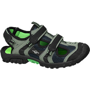 Levně Černo-šedé sandály Memphis One