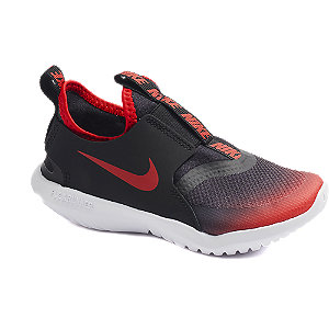 Levně Černo-červené slip-on tenisky Nike Flex Runner