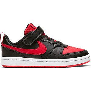 E-shop Černo-červené tenisky na suchý zip Nike Court Borough Low 2