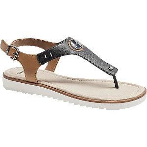 Levně Černo-hnědé sandály Bench