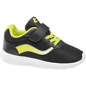 Levně Černo-žluté tenisky na suchý zip Bobbi-Shoes