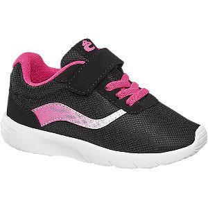 Levně Černo-růžové tenisky na suchý zip Cupcake Couture