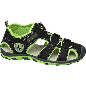 Levně Černo-zelené sandály Vty