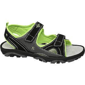 Levně Černo-zelené sandály na suchý zip Memphis One