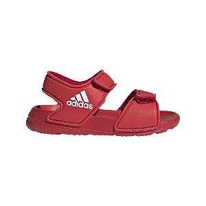 Levně Červené dětské sandály Adidas Alta Swim I