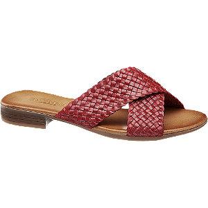 Levně Červené kožené pantofle 5th Avenue