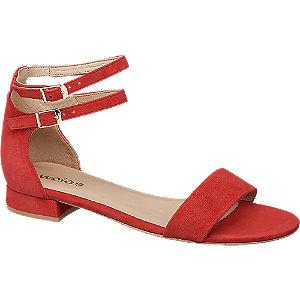 Levně Červené kožené sandály Wojas