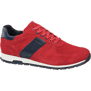 Levně Červené kožené tenisky Wojas