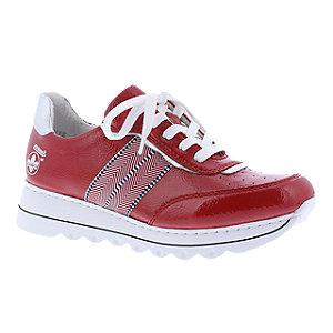 Levně Červené komfortní tenisky Rieker