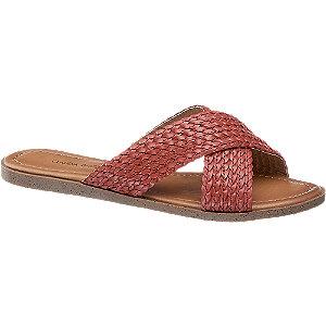 Levně Červené pantofle Claudia Ghizzani