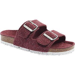 Levně Červené pantofle Vero Moda