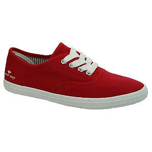 Levně Červené plátěné tenisky Tom Tailor