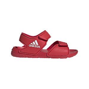 Levně Červené sandály Adidas Alta Swim C