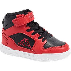 Levně Červeno-černé kotníkové tenisky Kappa