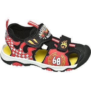 Levně Červeno-černé sandály Hot Wheels