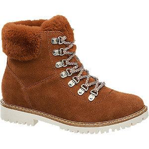 Levně Červeno-hnědá kožená šněrovací obuv Landrover
