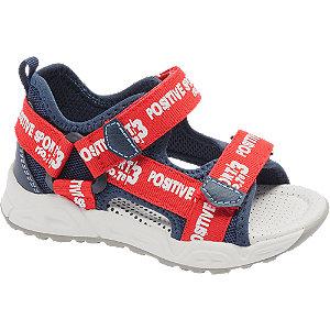 Levně Červeno-modré dětské sandály Bobbi-Shoes