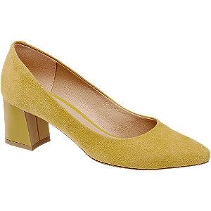Levně Žluté kožené lodičky Wojas