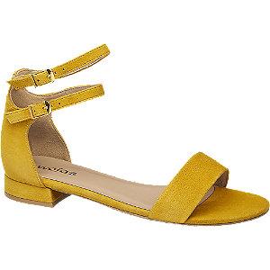 Levně Žluté kožené sandály Wojas