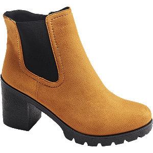 Levně Žlutá obuv chelsea Graceland se zipem