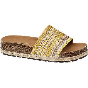 Levně Žluté pantofle Claudia Ghizzani