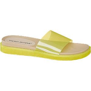 Levně Žluté pantofle Vero Moda