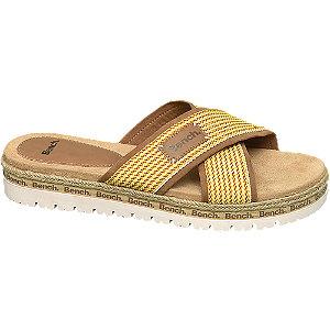 Levně Žluto-hnědé pantofle Bench