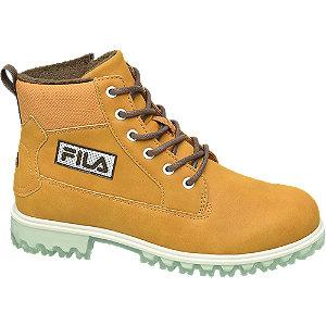Levně Žlutohnědá kotníková obuv Fila se zipem