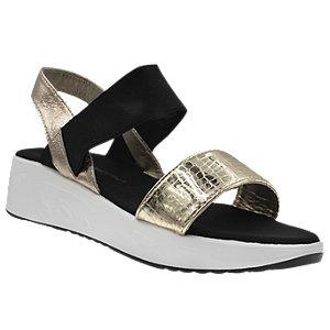 złoto-czarne sandały damskie Claudia Ghizzani