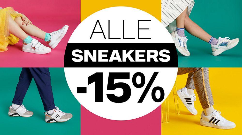 Sneakeractie -15% korting vanHaren
