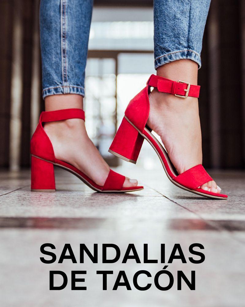 sandalias de tacón de mujer