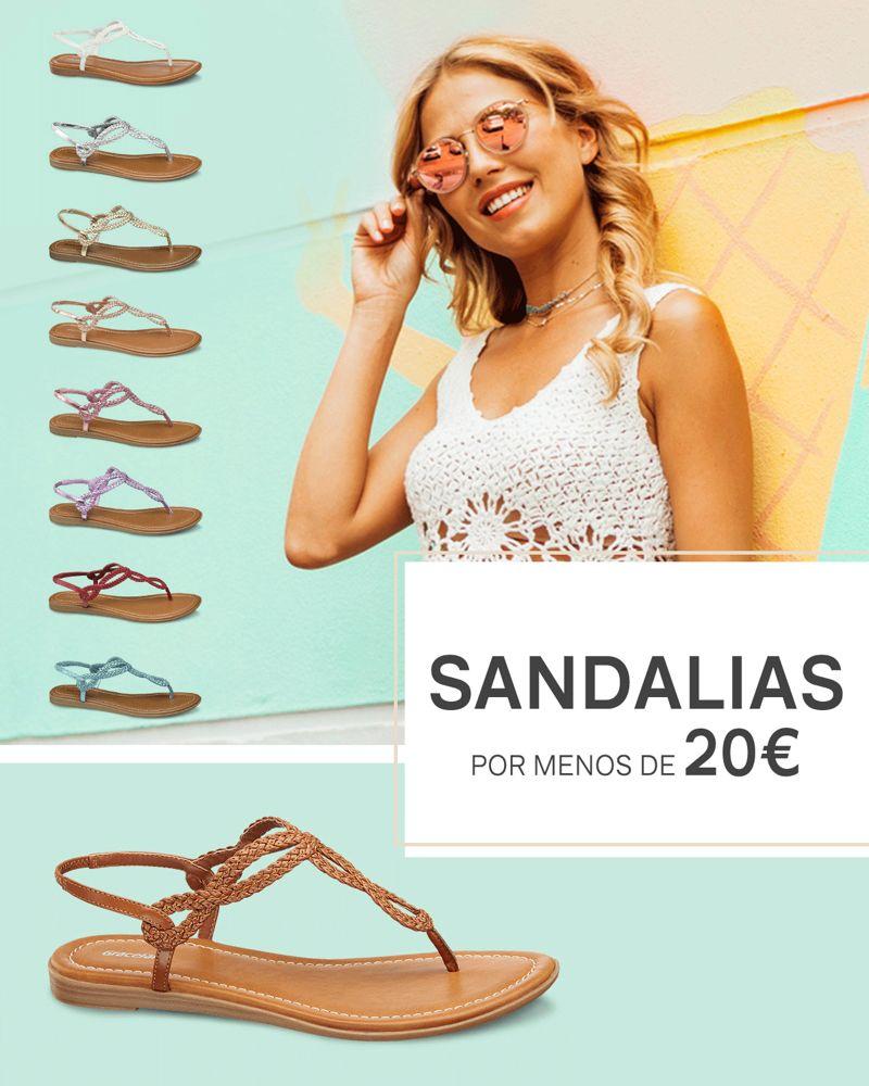 Sandalias por menos de 20€
