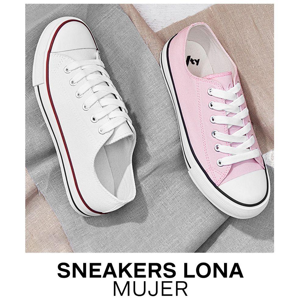Sneakers de lona mujer
