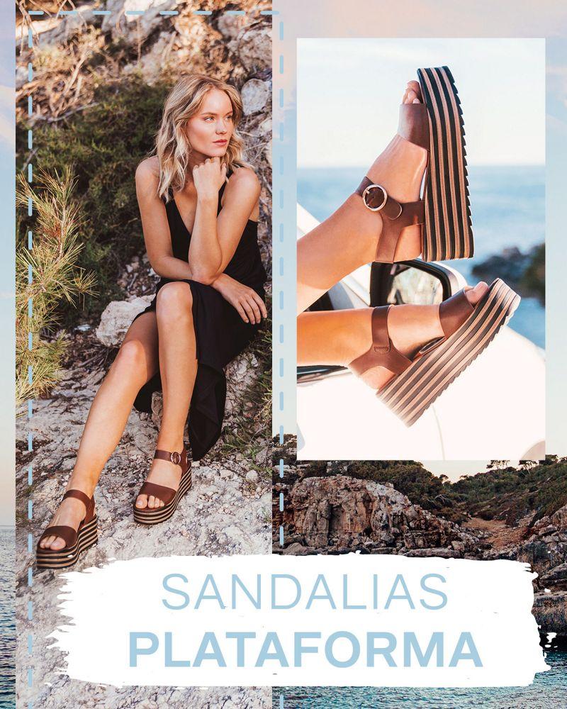 sandalias plataforma de mujer verano