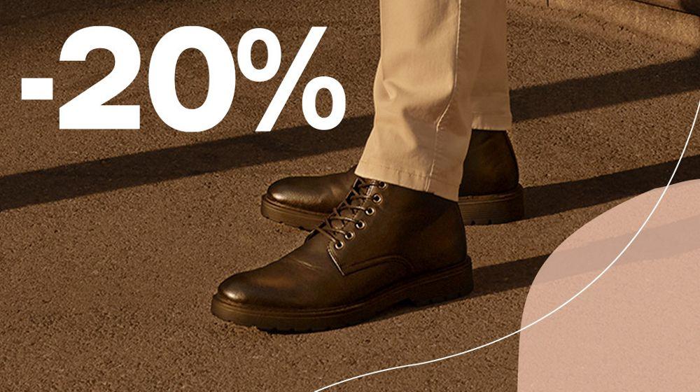 20% op nette herenschoenen