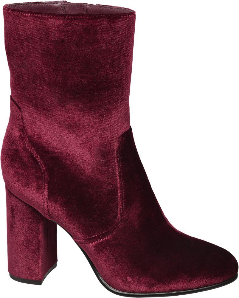Catwalk Bordo Kısa Çizme