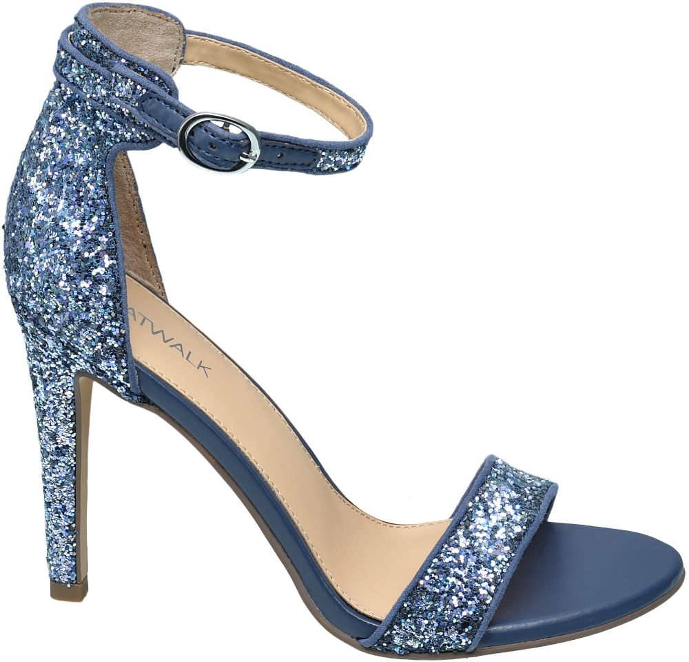 Catwalk Mavi Topuklu Ayakkabı