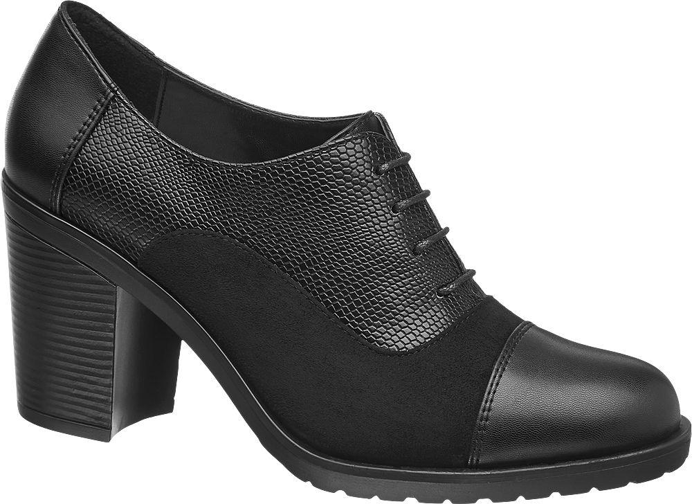 Graceland Siyah Kalın Topuklu Ayakkabı