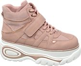 ae4bf39d362 Catwalk. Pink Chunky Lace-up Platform Trainers
