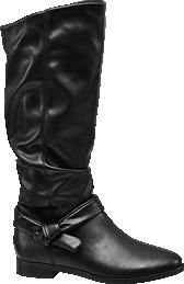 Graceland. Fekete hosszúszárú csizma e67728ecec
