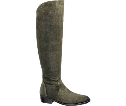 5th Avenue Leder Overknee-Stiefel
