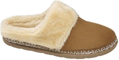Casa mia Ladies Plush Mule Slippers