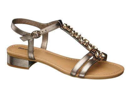 Graceland Gouden sandaal strass