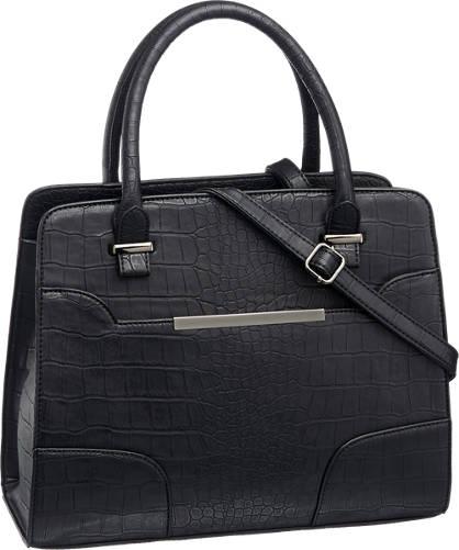 Graceland Zwarte handtas met crocoprint