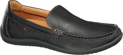 Gallus Zwarte leren loafer uitneembaar voetbed