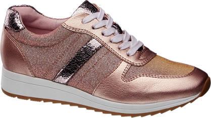 Graceland Rosé gouden metallic sneaker
