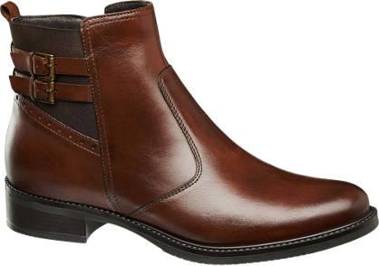 5th Avenue Bruine leren chelsea boot siergesp