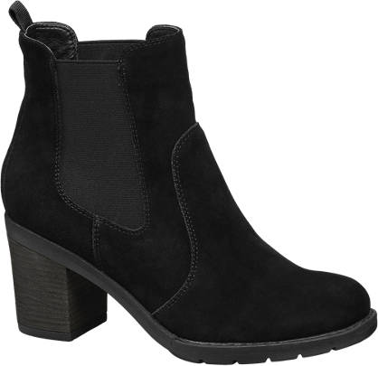 5th Avenue Zwarte suède chelsea boot