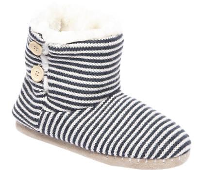 Casa mia Witte pantoffel warmgevoerd