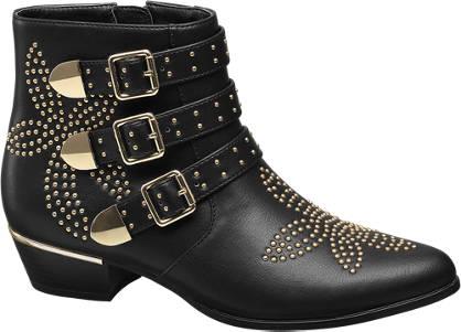 Graceland Zwarte western boot studs